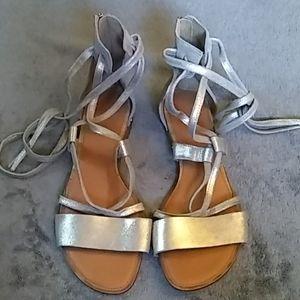 Franco Sarto wrap up sandals